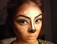 Bambi inspired Halloween Makeup Look