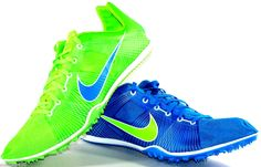 Mens Nike Zoom Victory Sprinters Track Spikes Size 12 Blue/Green