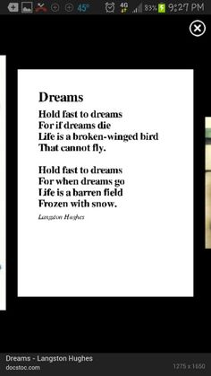 My favorite poem by Langston Hughes