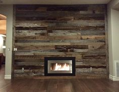 Another impressive #DIY #reclaimedwood wall one of our clients did using our…