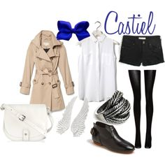 """Castiel"" by catsandtea on Polyvore    Supernatural themed outfit?  Wayward Son forever! <3"