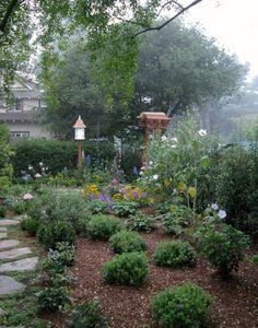 Cottage garden - Carmel, California, USA