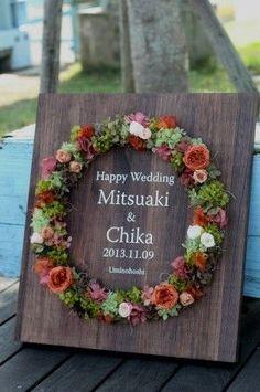 DIYしたい♡お花いっぱいでつくったウェルカムリースでゲストを素敵にお迎え♡にて紹介している画像