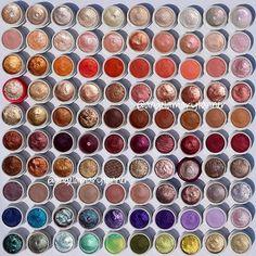 @colourpopcosmetics SSS   Row 1: lovely, plunge, koosh, xo, high tide, supermodel, acorn, swan, gecko, hope  Row 2: sand swoon, flipper, alchemy, rip tide, tea party, shark attack, cheeky, too soon, puppy love, steele