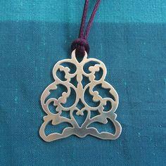 Sterling Silver Islamic Necklace por Tresorsdeplata en Etsy