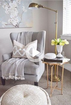 Wohnzimmersessel im Wohnzimmer im Wohnzimmer How To Select The Ri Home Office Decor, Home Decor Bedroom, Living Room Decor, Sala Grande, Living Room Inspiration, Interior Design Living Room, Kitchen Interior, White Accent Chair, Grey Chair