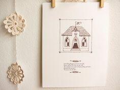 Little King Boggen Nursery Art Print, children illustration, nursery rhyme