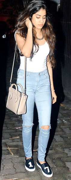 Jhanvi Kapoor at the movies. #Bollywood #Fashion #Style #Beauty #Page3