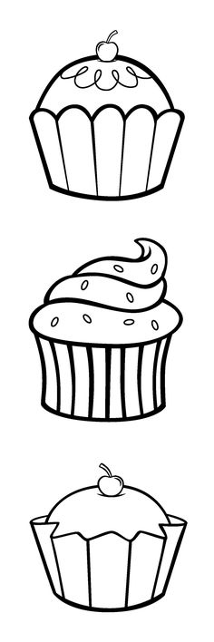 Cupcake clip art for embroidery? Colouring Pages, Coloring Sheets, Coloring Books, Applique Templates, Applique Patterns, Decoration Creche, Mug Rugs, Digi Stamps, Elementary Art