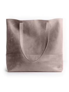 The Mamuye Leather Tote // Pewter - FASHIONABLE