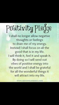 Positivity Pledge