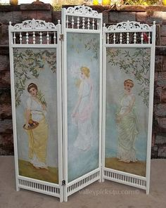 113 best Victorian Dressing Screens images on Pinterest