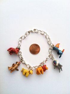 Disney's The Lion King Clay Charm Bracelet by aWishUponACharm, $20.00