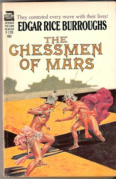 F-170 EDGAR RICE BURROUGHS The Chessmen of Mars (cover and title page…