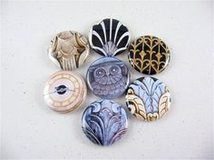 7 Architectural Steampunk Magnets - great for men - fridge magnets 1190