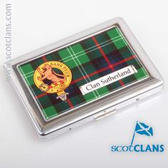 Sutherland Crest and Tartan Cigarette Case. Free worldwide shipping available