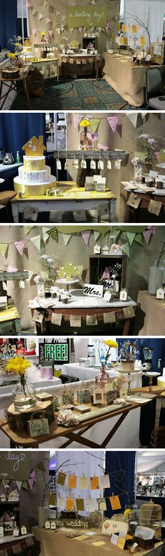 Cute little booth with burlap backdrop, bunting and an ironing board used for display Vendor Displays, Craft Fair Displays, Store Displays, Display Ideas, Burlap Backdrop, Burlap Centerpieces, Market Day Ideas, Burlap Cross, Bazaar Ideas