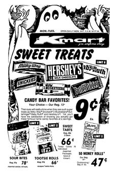 Kmart Halloween Candy - October 1975