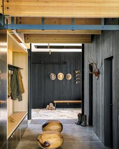 """scoutandnimble on Instagram: """"We are all the natural elements here, especially that black stained vertical tongue & groove paneling. What do you think? 📷: @gardenandgun"""""""