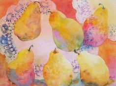 TransPear-ant Pears, painting by artist Kay Smith