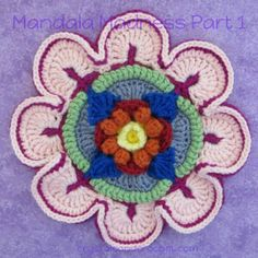 Mandala Madness Archives - Crystals & Crochet Motif Mandala Crochet, Crochet Motifs, Afghan Crochet Patterns, Crochet Squares, Knitting Patterns, Mandalas Painting, Mandalas Drawing, Crochet Home, Free Crochet