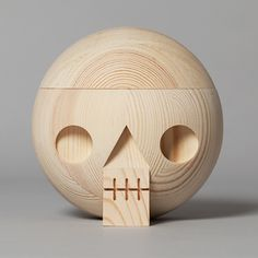#acne #acnestudios Wooden skull with secret compartment. For keeping memories. Packed in a cardboard box with a graphic Kranium print. Size: Ø 14 cm. Material: Pine wood. Kranium is also available in oak wood, white and black. Made in Sweden.