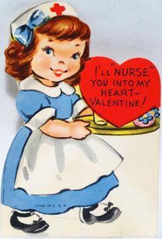 vintage valentines nurse - Bing Images