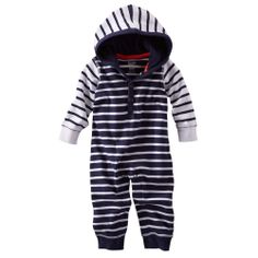 Striped Hooded Coverall | OshKosh B'gosh