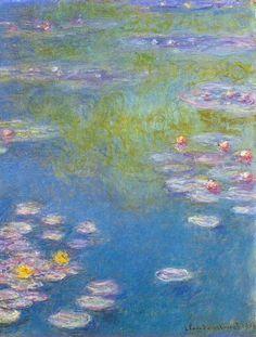 Water lilies detail ~ Claude Monet