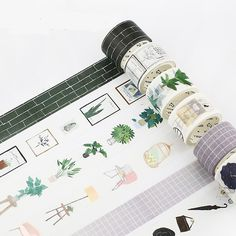 Cheap decorative washi tape, Buy Quality scrapbooking masking tape directly from China washi tape Suppliers: Northern Europe Green Plant Wall Brick Modern Boy Girl Home Decoration Washi Tape DIY Planner Scrapbook Masking Tape Washi Tape Crafts, Paper Crafts, Washi Tapes, Diy Planner, Washi Tape Planner, Washi Tape Journal, Diary Decoration, Cute Stationery, Stationary