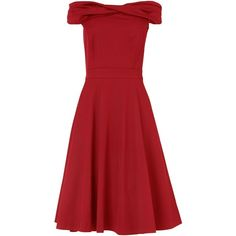 Phase Eight Odette grosgrain dress ($235) ❤ liked on Polyvore featuring dresses, dresses - casual, red, short dresses, women, fit and flare cocktail dress, cocktail prom dress, red off the shoulder dress, red mini dress and fit & flare dress