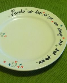 Decorate a plate with sharpie marker. Then bake for 30 min at 350! Super & Ignoring the Bible quote I really like this DIY plate decorating ...