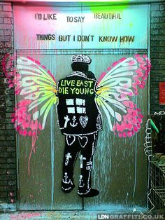 London Graffiti,,for butterfly