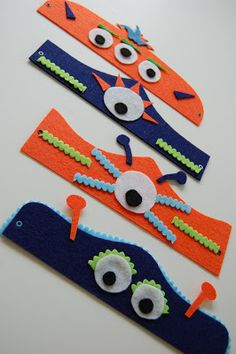 Monster headbands and other monster party ideas