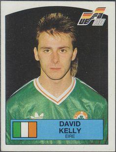 David Kelly of Rep of Ireland. David Kelly, Republic Of Ireland, Football Fans, Irish, The Past, Paninis, Baseball Cards, Russia, Sports