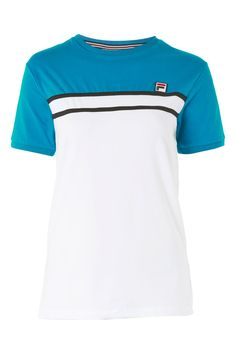 a6c5538d Cut And Sew T-Shirt by FILA Shirt Outfit, Lounge Wear, White Jeans. Topshop