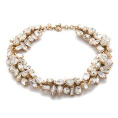 J.Crew women's glacier necklace in crystal.