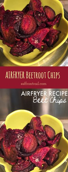 Recipe for Beetroot Chips - - Recipe for Beetroot Chips Airfryer Recipes – Healthy Healthy snacks – 85 calorie Beetroot chips! You'll love these even if you hate beets! Use the oven if you don't have an airfryer. Power Air Fryer Recipes, Air Fryer Oven Recipes, Beet Recipes, Cooking Recipes, Healthy Recipes, Healthy Snacks, Beetroot Crisps, Cooking Beets In Oven, Actifry Recipes