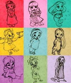 Disney Princess BABIES. when i have a baby someday, this will go in her room, its adorable.