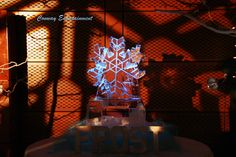 Ice Sculpting for a winter theme wedding, photo by Conway Entertainment of Arkansas