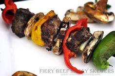 Fiery Beef Satay Skewers #Beef #Grilliance