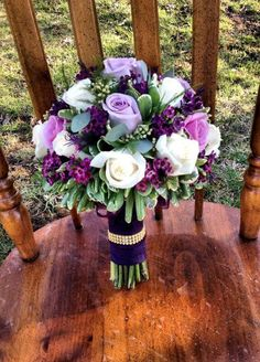 Pretty bouquet for Purple or Plumb color scheme