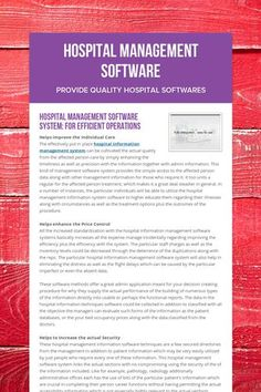 Hospital Management Software - Provide Quality Hospital Softwares by Birla Medisoft Corporate Presentation, Software, Management, Education, Business, Educational Illustrations, Business Illustration, Learning, Onderwijs
