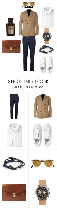 """""""Classy Weekend Vibes."""" by vdbain ❤ liked on Polyvore featuring mode, Hardy Amies, adidas Originals, MIANSAI, Oliver Peoples, Lotuff & Clegg, Shinola et Acqua di Parma"""