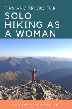 Step out of your comfort zone and go on a solo hike. These tips are designed to help women go on their first solo hike. Topics include how to relive anxiety, write a trip plan and how to deal with wildlife and other unwanted attention. Backpacking Tips, Hiking Tips, Hiking Gear, Solo Travel Tips, Travel Advice, Travel Quotes, Hiking Essentials, Outdoor Travel, Trip Planning