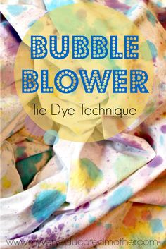 Get out your bubble blowers for some tie dye fun!! #tiedyeyoursummer ilovetocreate