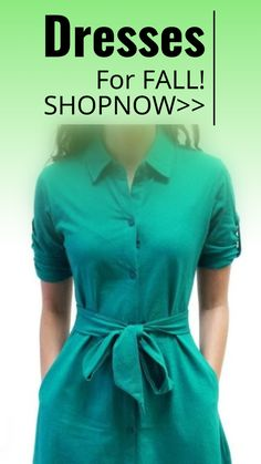 Perfect for Fall! #fashion #dress #green sponsored