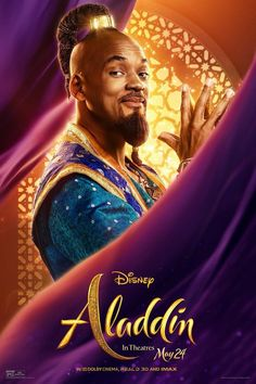 Aladdin - Poster Will Smith ist der Dschinni! Aladdin - ab in den Kinos<br> Aladdin Film, Aladdin Poster, Watch Aladdin, Genie Aladdin, Disney Cinema, Film Disney, The Smiths, Disney Live, Will Smith Films