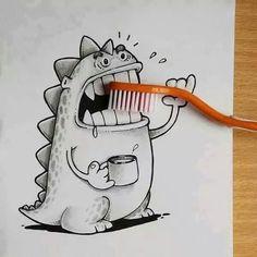 #Zähne #schrubben