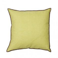 """Hideaway"" Pillow by Fine · www.labella-amara.com Color Splash, Throw Pillows, Colour, Linen Fabric, Yellow, Pillows, Color, Toss Pillows, Cushions"